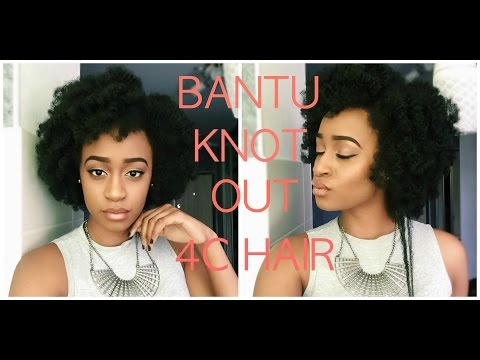 SUPER EASY BANTU KNOT OUT ON 4C NATURAL HAIR
