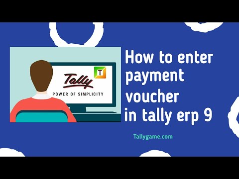 payment voucher entry in tally , tally erp9