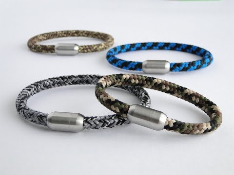 How to Make a Simple Magnetic Clasp/Cord Bracelet