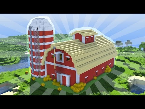 How To Build a Minecraft BARN (CREATIVE BUILDING)