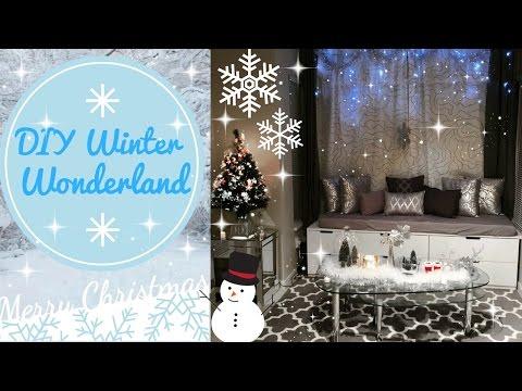 DIY Winter Wonderland Christmas Decorations | Angie Lowis