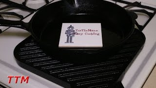 How To Clean A Cast Iron Skillet Or Cast Iron Stovetop Grilleasy Cook