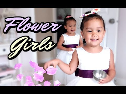 THEIR FIRST TIME AS FLOWER GIRLS! -  ItsJudysLife Vlogs