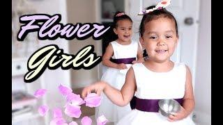 THEIR FIRST TIME AS FLOWER GIRLS! -  ItsJudysLife Vlogs