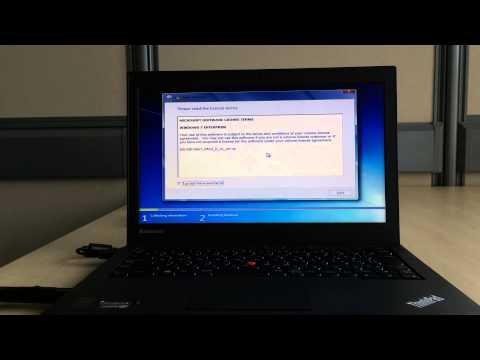 Installing Windows7 using USB on Lenovo X240