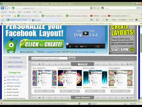 How To Get Facebook Skin/Background On You Facebook Profile