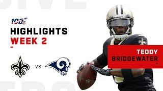 Every Teddy Bridgewater Play vs. Rams | NFL 2019 Highlights