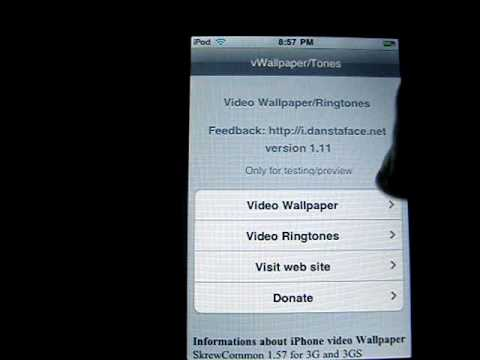 How To Get An Animated Wallpaper For Ipod Touch & Iphone