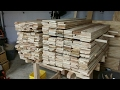 Nate's WoodWerks - 7 - Pallet Wood Stair Treads - Stock Preparation