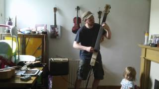 Home made electric upright bass with K&K pickup into a Fishman loudbox mini