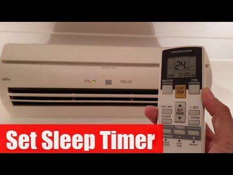 Fujitsu Air Conditioner: How to Set Sleep Timer