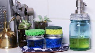 Four Useful DIYs Using A Sponge And Mason Jar