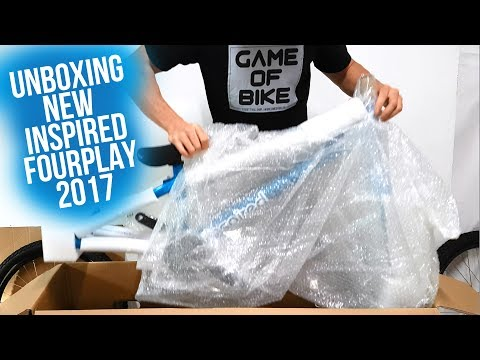 UNBOXING   INSPIRED FOURPLAY PRO 2017 METALLIC BLUE   STREET TRIAL