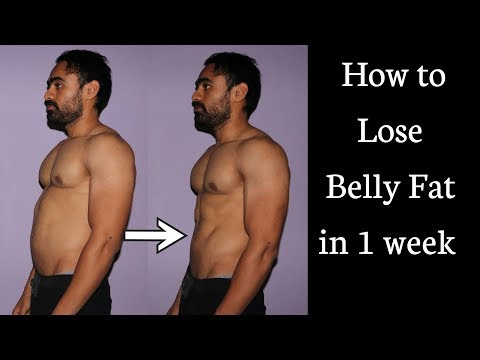 HOW TO LOSE BELLY FAT, STOMACH FAT IN 1 WEEK  (EVERY ONE) 3 TIPS