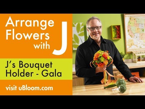 How to Arrange Flowers- Wedding Bouquet with Roses!