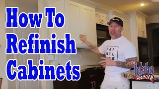 How To Paint Or Refinish Kitchen Cabinet Doors Cabinet Painting Hacks