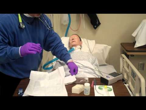 Sterile Suction Technique on a Patient with Trach part 2