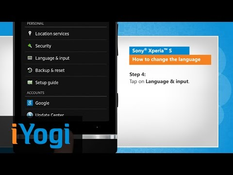 How to change the language in Sony® Xperia™ S