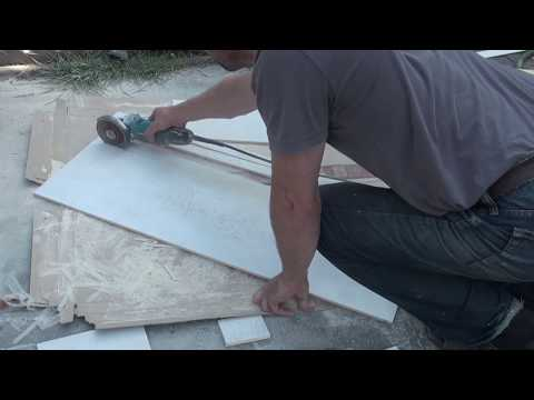 How to Cut a Large Format tile. Free hand style. Tile 13
