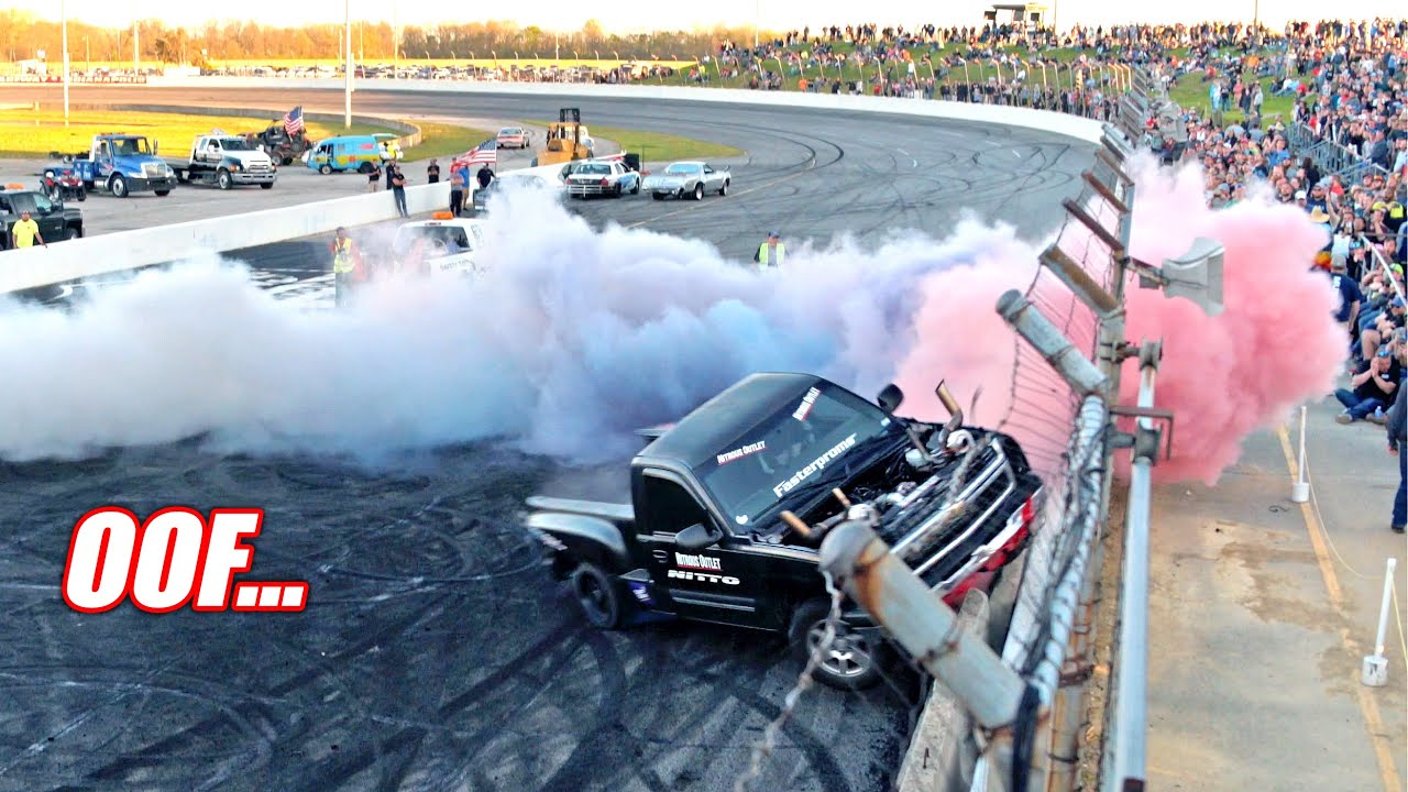 Cleetus and Cars INDY FULL Burnout Contest!!! (Via @Project Priime )