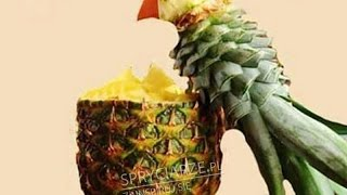 Птица из ананаса или Как красиво нарезать ананас