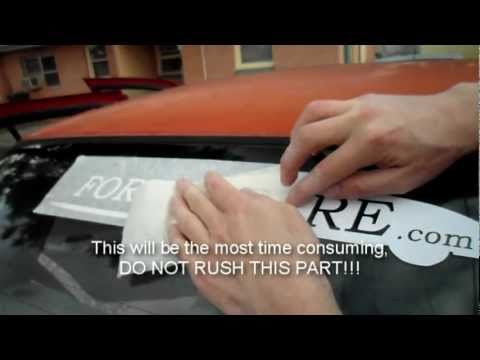 How to Apply a Vinyl Decal to Your Car Window