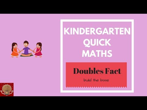 Kindergarten Fast Maths for kids - Doubles Fact  Double concept for kids   Quick Maths for kids