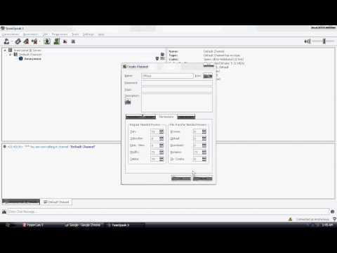 Teamspeak 3 - Creating and Editing channels | TutorialRegion