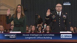LIVE: House Impeachment Inquiry Hearing - Vindman & Williams Testimony