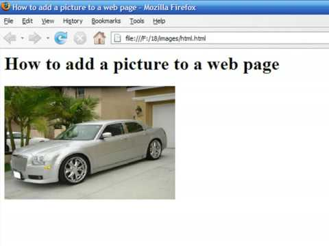 How to Create Web Pages Using HTML : How to Add a Picture to a Web Page