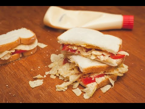 Easy Potato Chip & Tomato Sandwich | SAM THE COOKING GUY