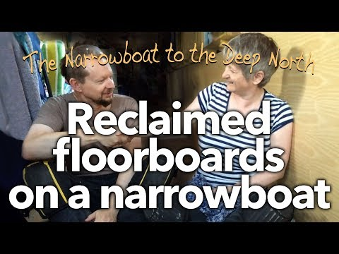 #14 Reclaimed floorboards on a narrowboat