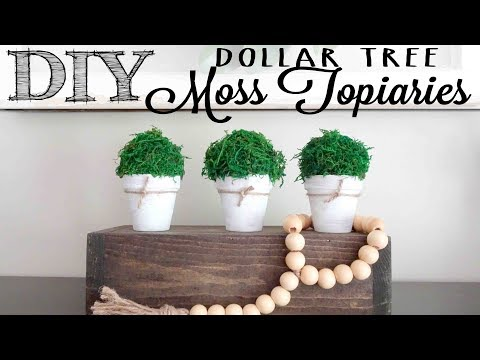 DIY Moss Topiaries | Dollar Tree Craft