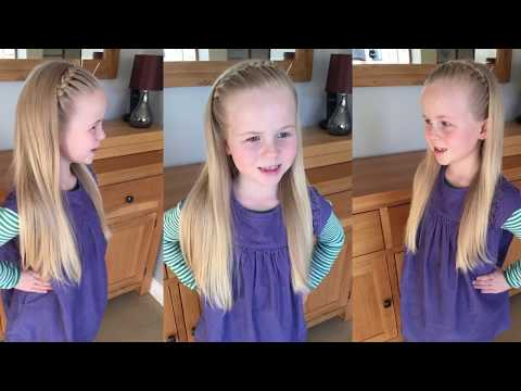 Super Easy Braided Headband hair tutorial by Two Little Girls Hairstyles