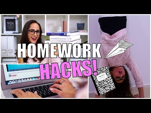 10 MUST-TRY HOMEWORK HACKS: How To Study Effectively!