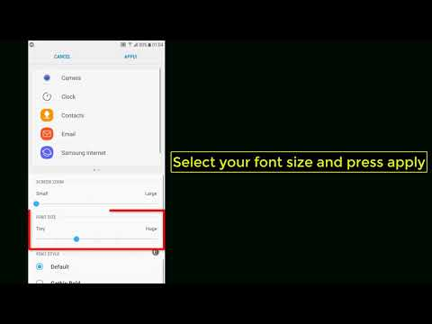 How to change text font size on Android (7.0/8.0) - Tutorial