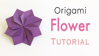 Download Origami Paper Double Square Flower - Origami Kawaii〔#157〕 Video