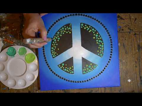 How to paint dot mandalas with Kristin Uhrig #38-Peace Sign