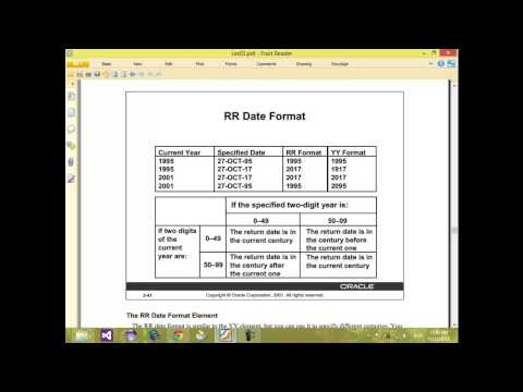 14 Oracle Database   Format Model   Date Time Number