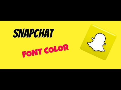How to change Snapchat Font color