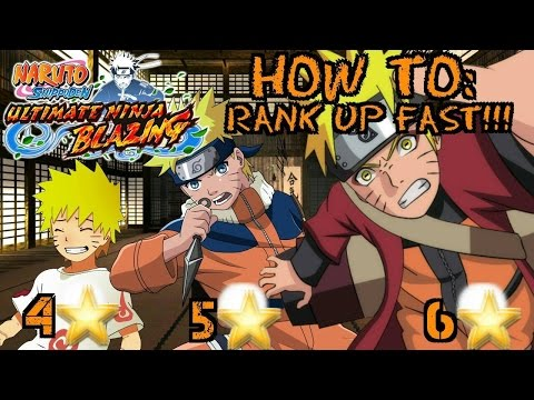 HOW TO RANK UP FAST!!! Naruto Shippuden Ultimate Ninja Blazing