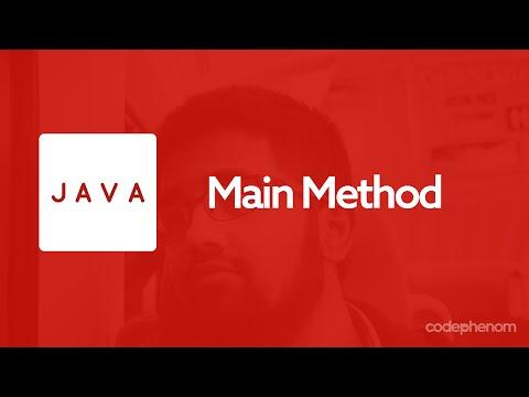 Java Series - 4 - Main Method