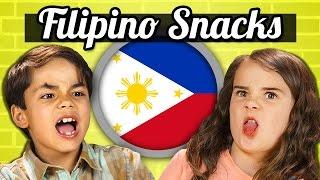 KIDS EAT FILIPINO SNACKS!   Kids Vs. Food