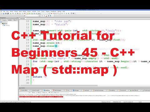 C++ Tutorial for Beginners 45 - C++ Map