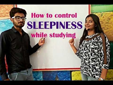 how to control sleepiness while studying