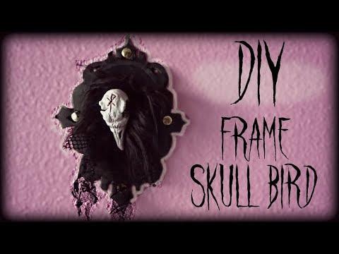 Goth DIY: Frame skull bird - Ray Hell