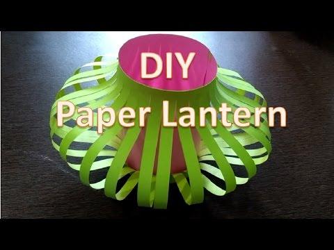 How to make Chinese paper lantern | DIY paper lamp