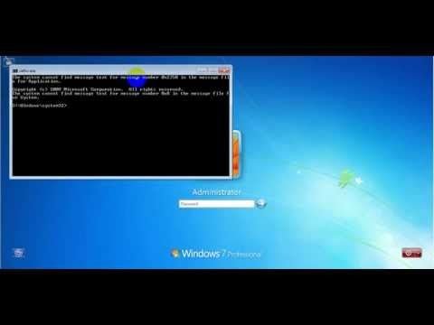 How to reset password windows 7 using command