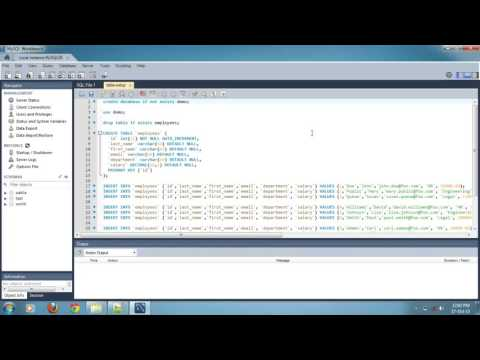 How to Import and Run SQL Script File in Mysql Workbench 6.0