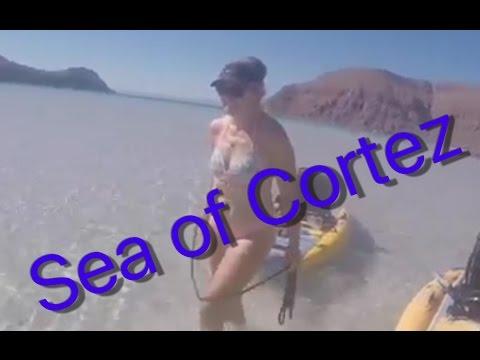 Sailing Around the World, Mexico Sea of Cortez, Off the Starboard Hull Isla Espiritu Santo Ep 28